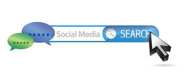 Social media search bar illustration design Stock Photos