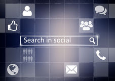 Social media search box on abstract background. Social media search box on abstract background Royalty Free Stock Photo