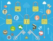 Social media security concept Stock Photo