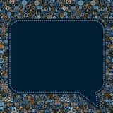 Social Media Seech Bubble Vector. Social Media Seech Bubble. Seamless Vector Texture Stock Images