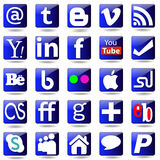 Social media Set icons. Stock Photo