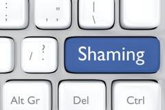 Social media shaming button Royalty Free Stock Images