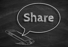 Social Media Share Royalty Free Stock Image