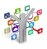 Social Media Sharing vector illustration