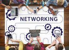 Social Media Sharing Online Exchange Concept stock photo