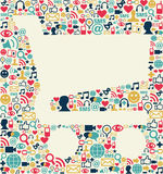 Social media shopping cart texture Royalty Free Stock Photo