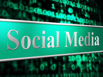Social Media Shows Forums Internet And Web. Social Media Representing Forum Internet And Forums Royalty Free Stock Photography