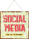 Social media sign Royalty Free Stock Photos