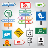 Social media sign Stock Photography
