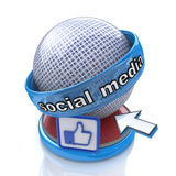 Social Media Sign stock photos