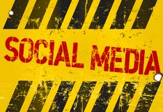 Social media sign Stock Image