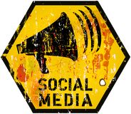Social media sign Royalty Free Stock Photography