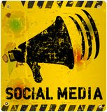 Social media sign Royalty Free Stock Images