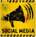 Social media sign. Vector illustration Royalty Free Stock Images
