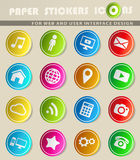 Social media simply icons Stock Photo