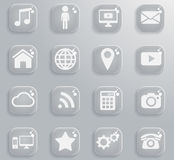 Social media simply icons Stock Photography