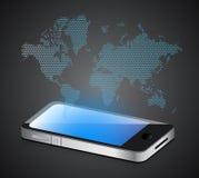 Social media smartphone Stock Image