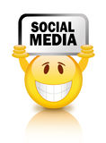 Social media smiley Royalty Free Stock Images