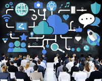 Social Media Social Networking Connection Data Storage Concept Royalty Free Stock Image