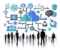 Social Media Social Networking Connection Data Storage Concept Stock Photography