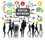 Social Media Social Networking Connection Global Concept Stock Images