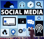 Social Media Social Networking Connection Media Link Concept Royalty Free Stock Photography