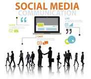 Social Media Social Networking Technology Connection Concept.  Stock Image