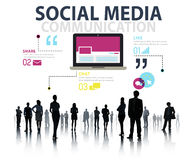 Social Media Social Networking Technology Connection Concept.  Stock Photo
