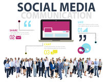 Social Media Social Networking Technology Connection Concept Royalty Free Stock Image