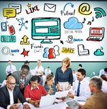 Social Media Social Networking Technology Connection Concept Stock Images
