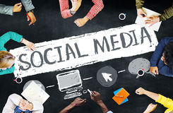 Social Media Social Networking Technology Connection Concept Stock Photography