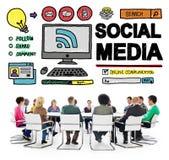 Social Media Social Networking Technology Connection Concept Stock Photos