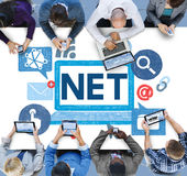Social Media Social Networking Technology Connection Concept.  Royalty Free Stock Image