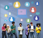 Social Media Social Networking Technology Connection Concept Royalty Free Stock Photos