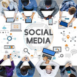 Social Media Social Networking Technology Innovation Concept Royalty Free Stock Image