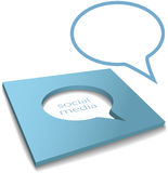 Social Media Speech Bubble box cut out royalty free illustration