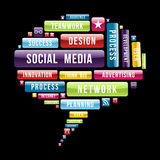 Social media speech bubble Stock Photos