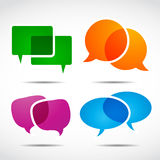 Social media speech bubble set Royalty Free Stock Images