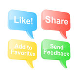 Social media speech bubbles Stock Images