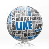 Social media sphere Royalty Free Stock Photography