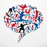 Social media Sports silhouettes Royalty Free Stock Image