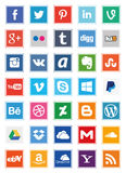 Social Media Square Icons (Set 2). Also see sets 1 and 3 of my portfolio. A set of 35 popular social media icons in square shapes for use in print and