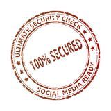 Social media stamp royalty free stock images