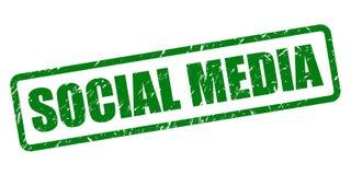 Social media stamp stock illustration