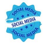 Social media stamp vector Stock Photos