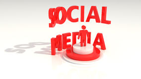 Social media standing text Stock Photography