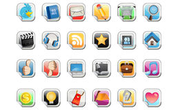 Social Media Sticker Icon Royalty Free Stock Images
