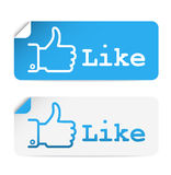 Social media stickers Royalty Free Stock Images