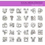 Social Media Strategy Elements Stock Image