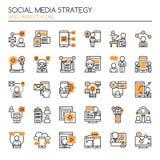 Social Media Strategy Elements Royalty Free Stock Photography